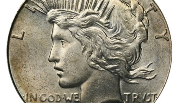A 1927 Peace dollar. (Image courtesy USA Coinbook)