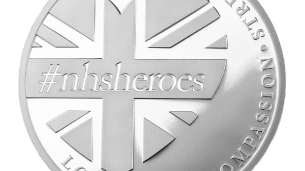 "One-hundred percent of the profit from the sales of the ""NHS Heroes"" silver coin will benefit the NHS Charities Together Coronavirus Appeal. (The East India Company Bullion Ltd.)"