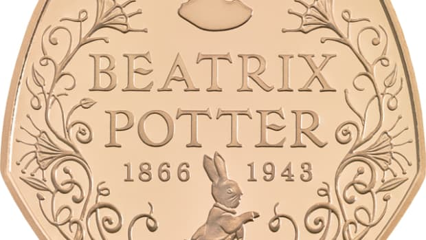 The Royal Mint will honor the 150th anniversary of Beatrix Potter's birthday in July with a 50 pence coin.