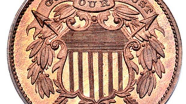 1863 pattern 2¢ shield obv