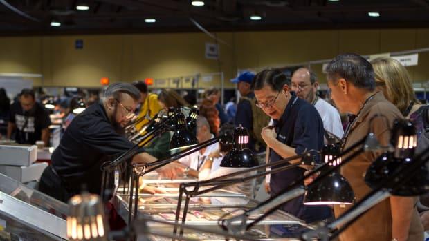 A busy bourse scene at a previous Long Beach Expo