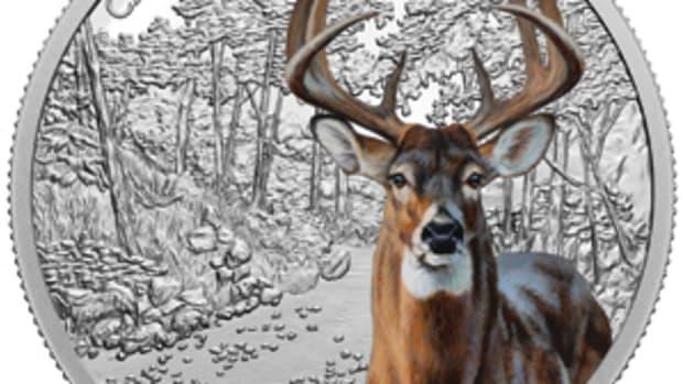 2021 $30 Imposing Icons White-Tailed Deer Reverse