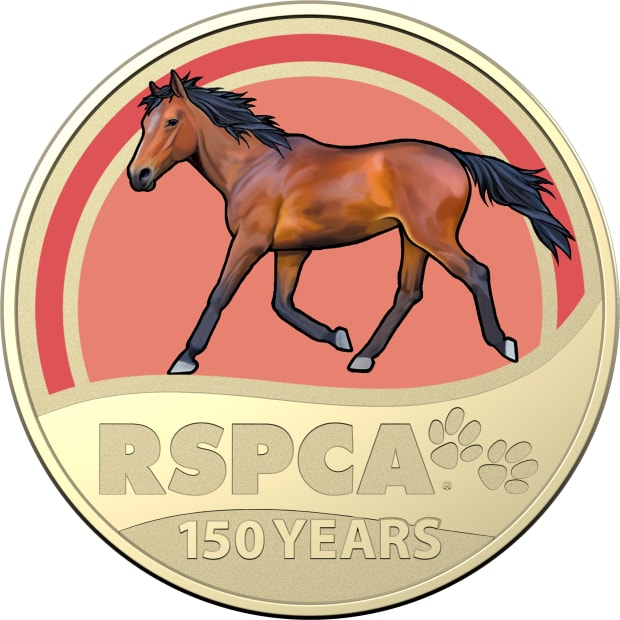 2021-$1-Coloured-Frosted-Uncirculated-RSPCA-Horse-Coin_REV