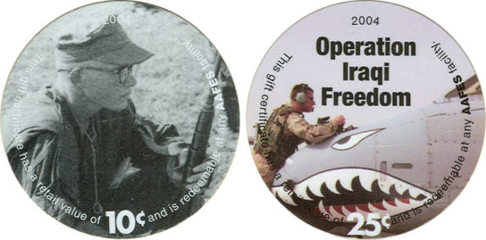Meant to be a temporary measure when introduced as a substitute for coins for troops in Afghanistan in 2001 pogs are only now being demonetized.