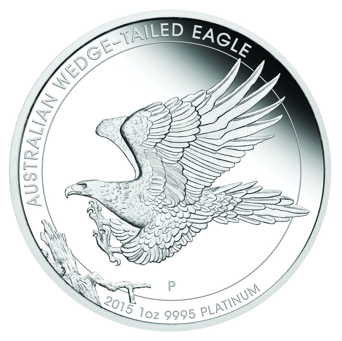The one and only platinum Wedge-tailed Eagle coin - to date. Image courtesy The Perth Mint.