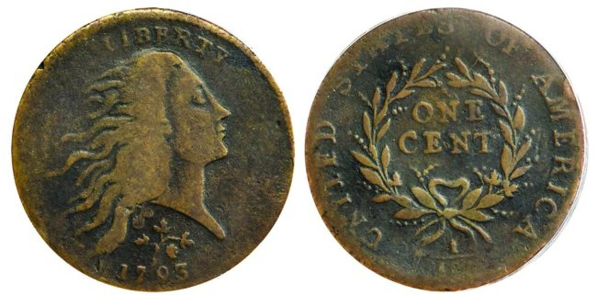 Lot 1006, a Parmelee 1793 NC-3 Strawberry Leaf cent, realized $660,000. (All images courtesy Stack's Bowers)