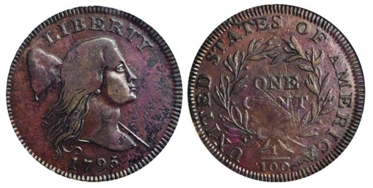 Lot 1017, a Rarity-8 1795 NC-1 Jefferson Head cent, crossed the auction block at $408,000.