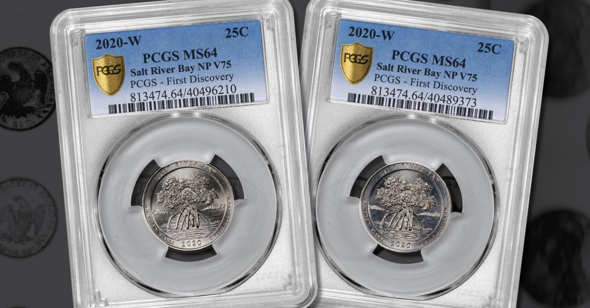 Two lucky winners of the PCGS 2020 Quarter Quest will split the $2,000 prize for finding the W quarters for the new coin of the America the Beautiful quarter series: Salt River Bay National Historic Park. (Images courtesy Professional Coin Grading Service)
