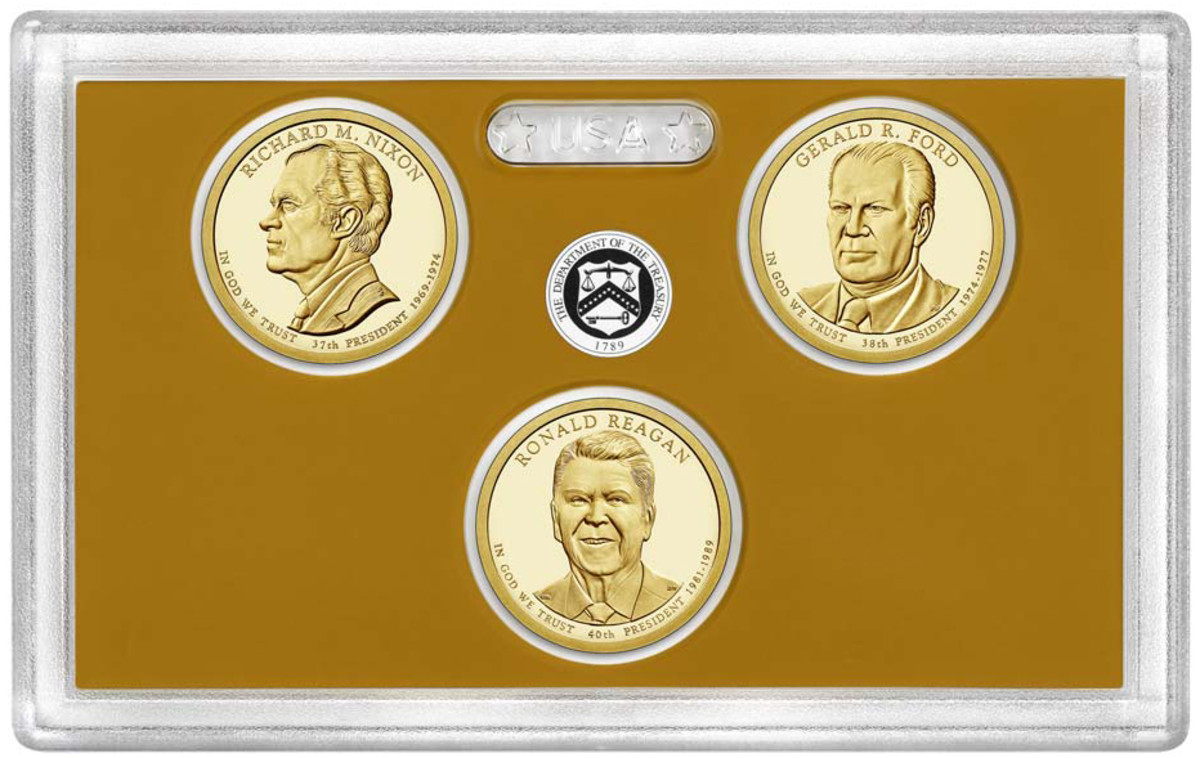 Nixon, Ford and Reagan Presidential dollars mark the last releases for the dollar coin series.