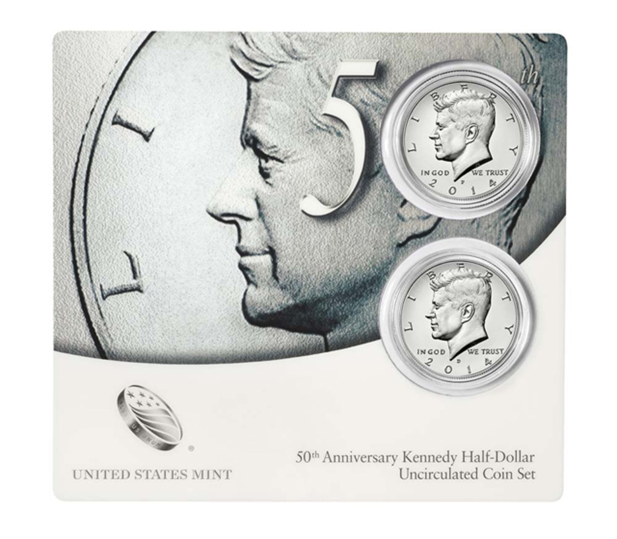 In terms of profit percentages, the uncirculated Kennedy half dollar set won 2014.