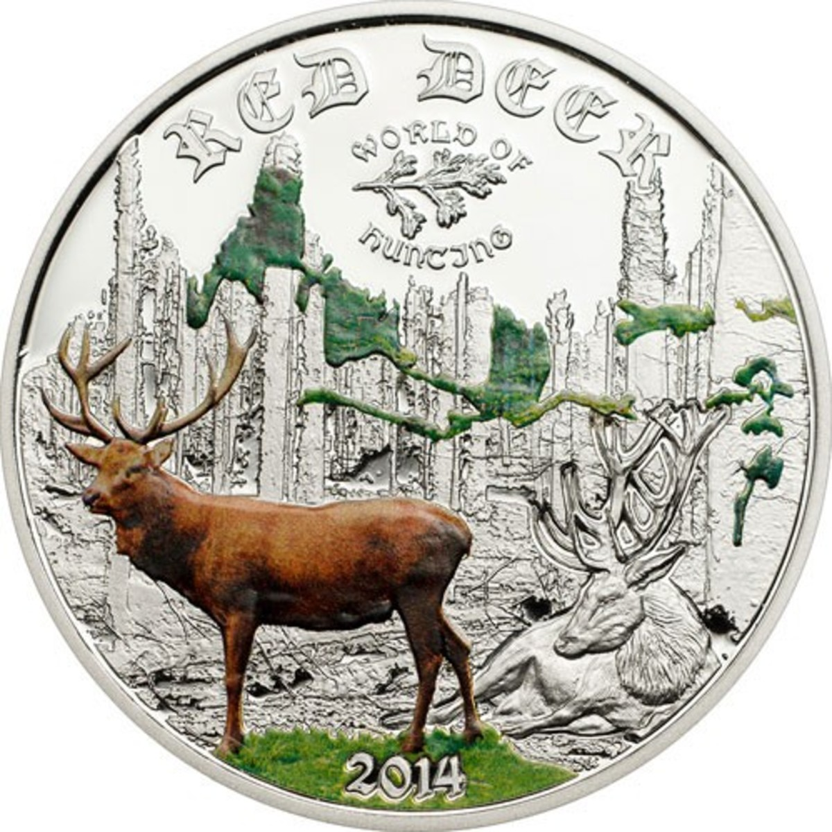 Hunter? Naturalist? Add this Red Deer coin to your collection today.