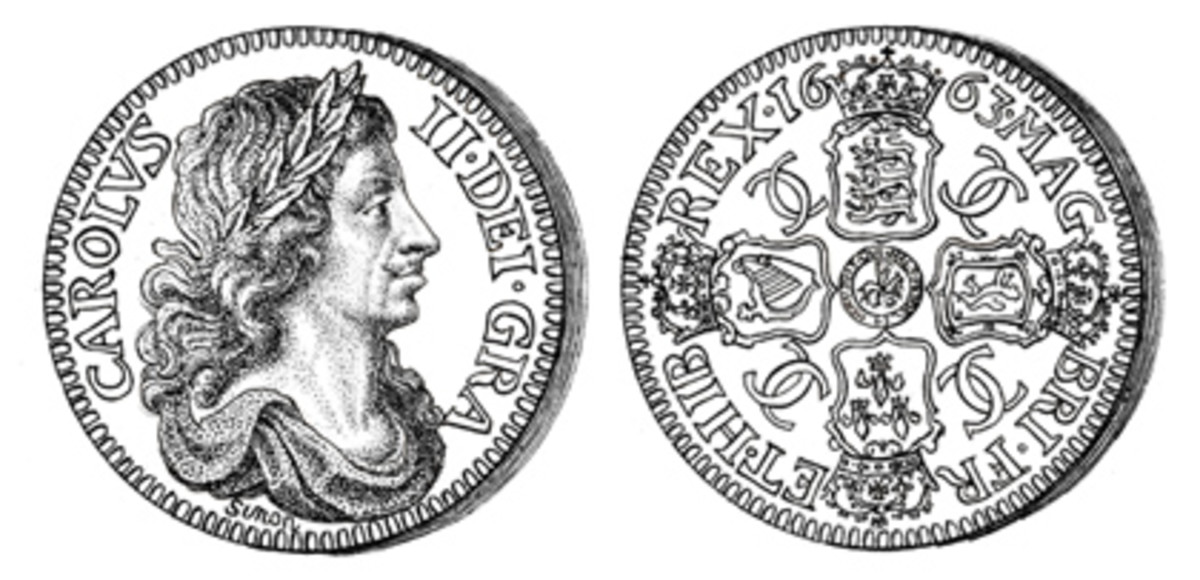The 1663 Petition crown by Thomas Simon with the edge inscription .