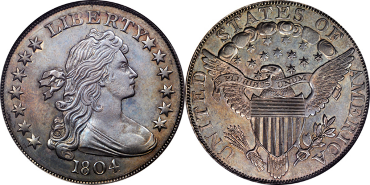 The D. Brent Pogue Collection 1804 silver dollar.
