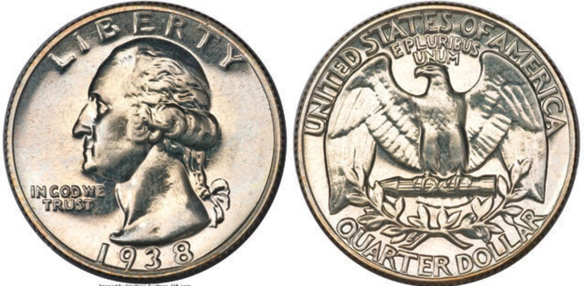 This 1938 Washington quarter is graded PR-64 by NGC. (Images courtesy Heritage Auctions)