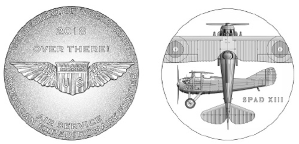 The Air Service medal features a SPAD XIII plane.
