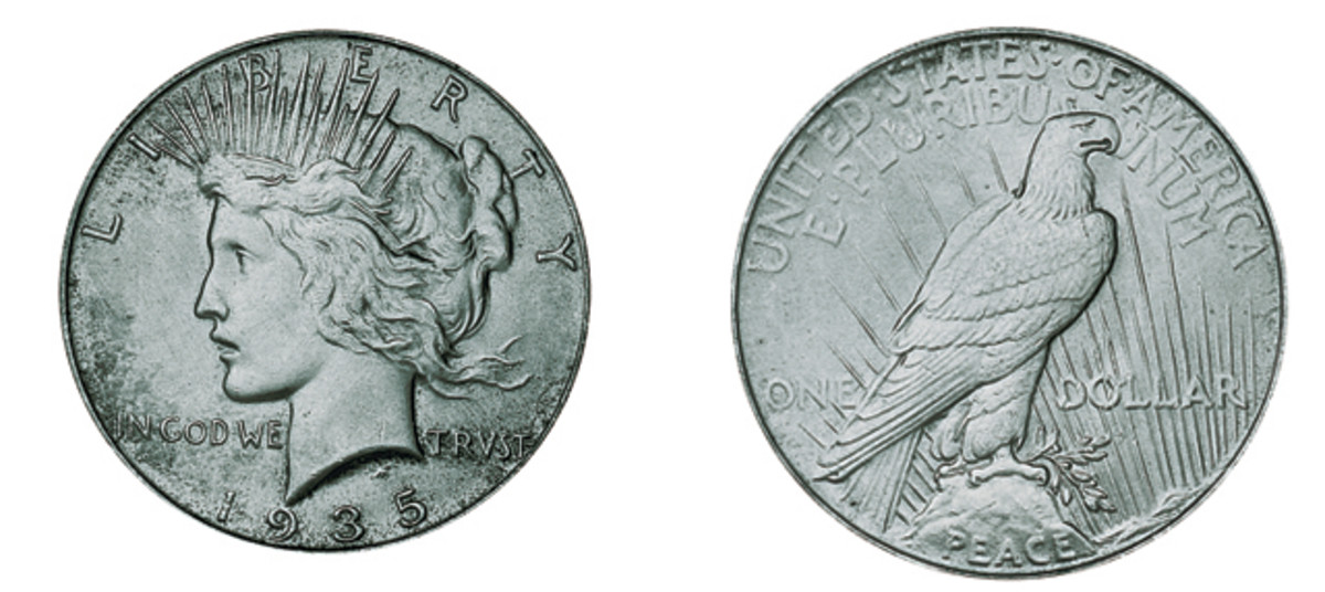The 1935 Peace dollar was not the last Peace dollar produced, but its status as the last circulated makes it important, especially with deals like $835 for an MS-65 example.