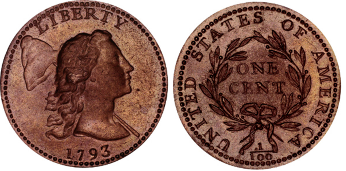 Liberty Cap cent. This coin was struck on July 18 or 22 by Flude and Gerard. (Image courtesy of Q. David Bowers)