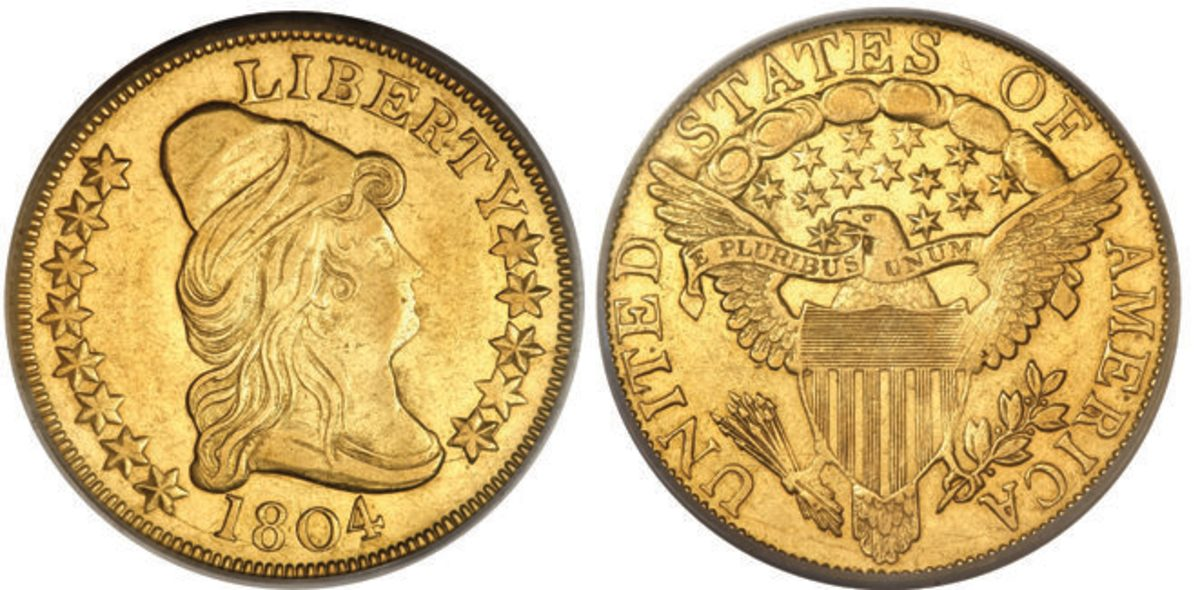 An 1804 Crosslet eagle. (Images courtesy Heritage Auctions)