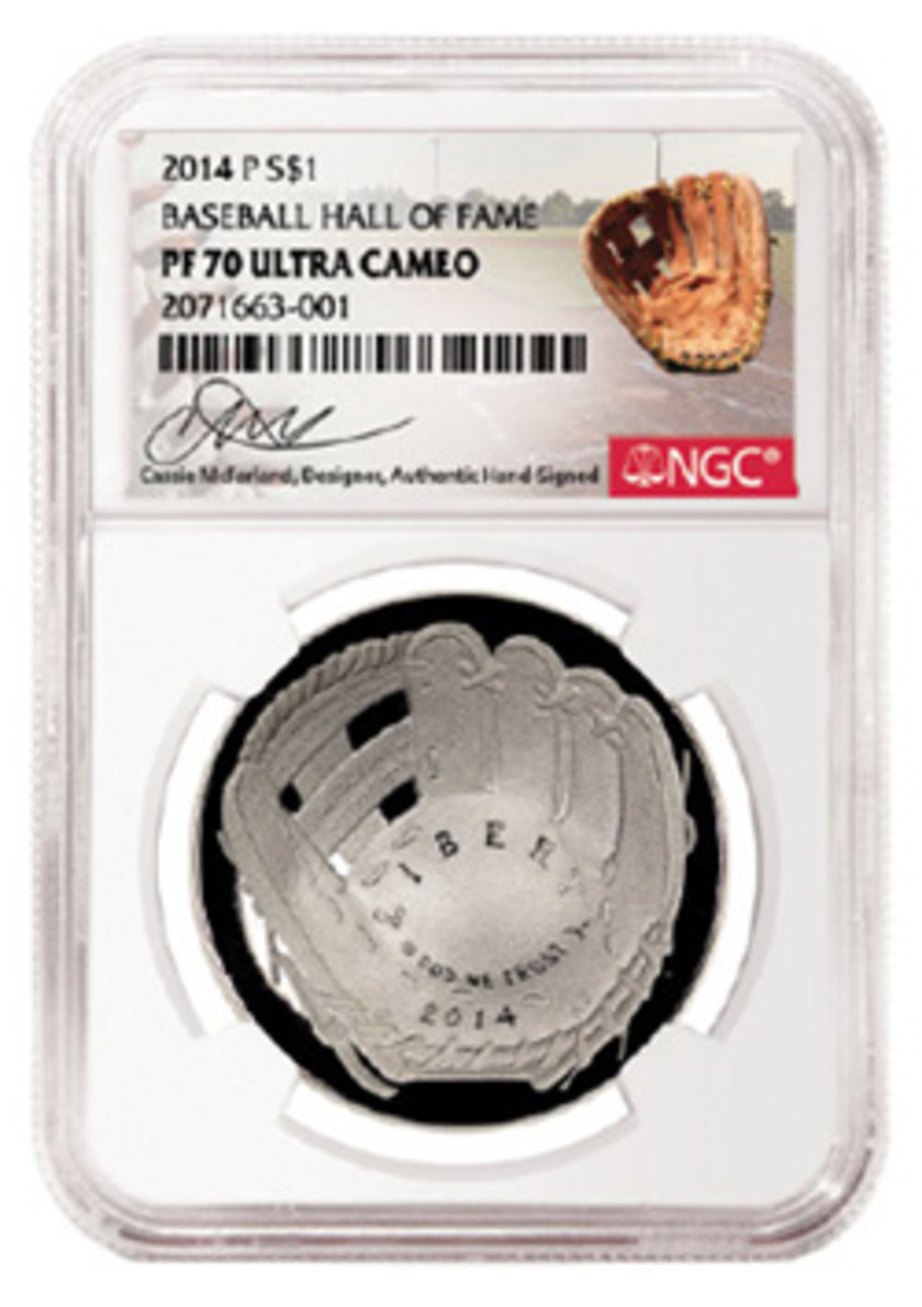 McFarland will individually autograph a run of labels for Numismatic Guaranty Corporation.