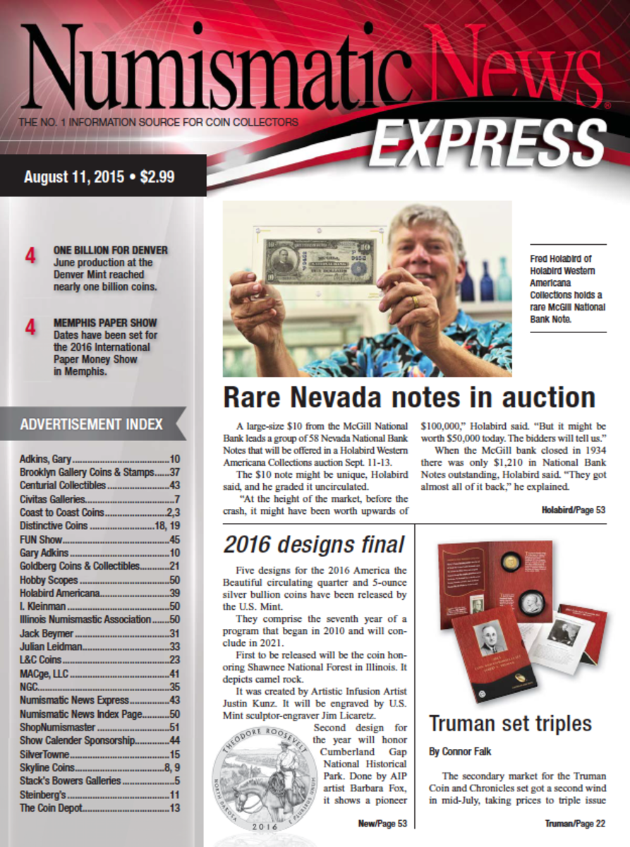 Get your copy of the latest Numismatic News here!
