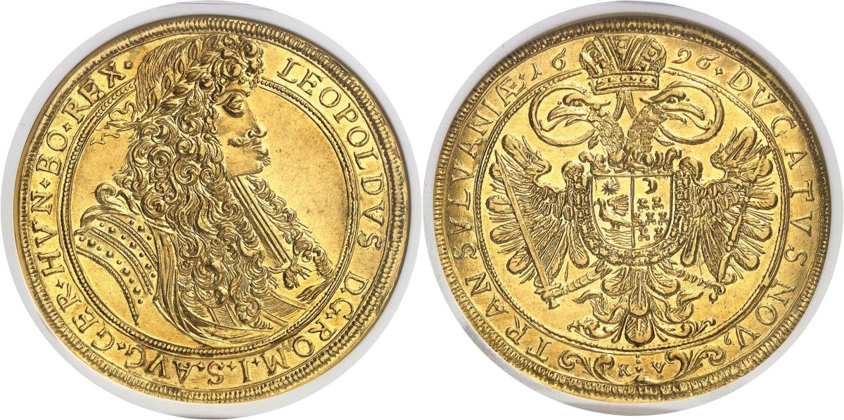 This Transylvania 1696 Gold 10 Ducats graded NGC MS 63+ realized 276,000 Swiss Francs (about $278,000 USD).