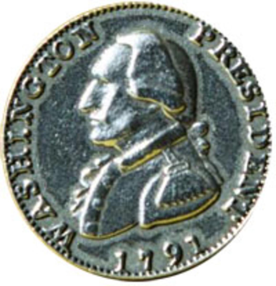 British reproduction 1791 Washington cent.