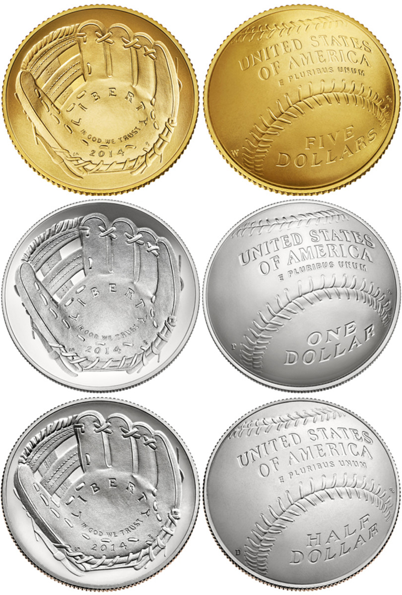 All three denominations of the Baseball Hall of Fame coins were nominated for awards.