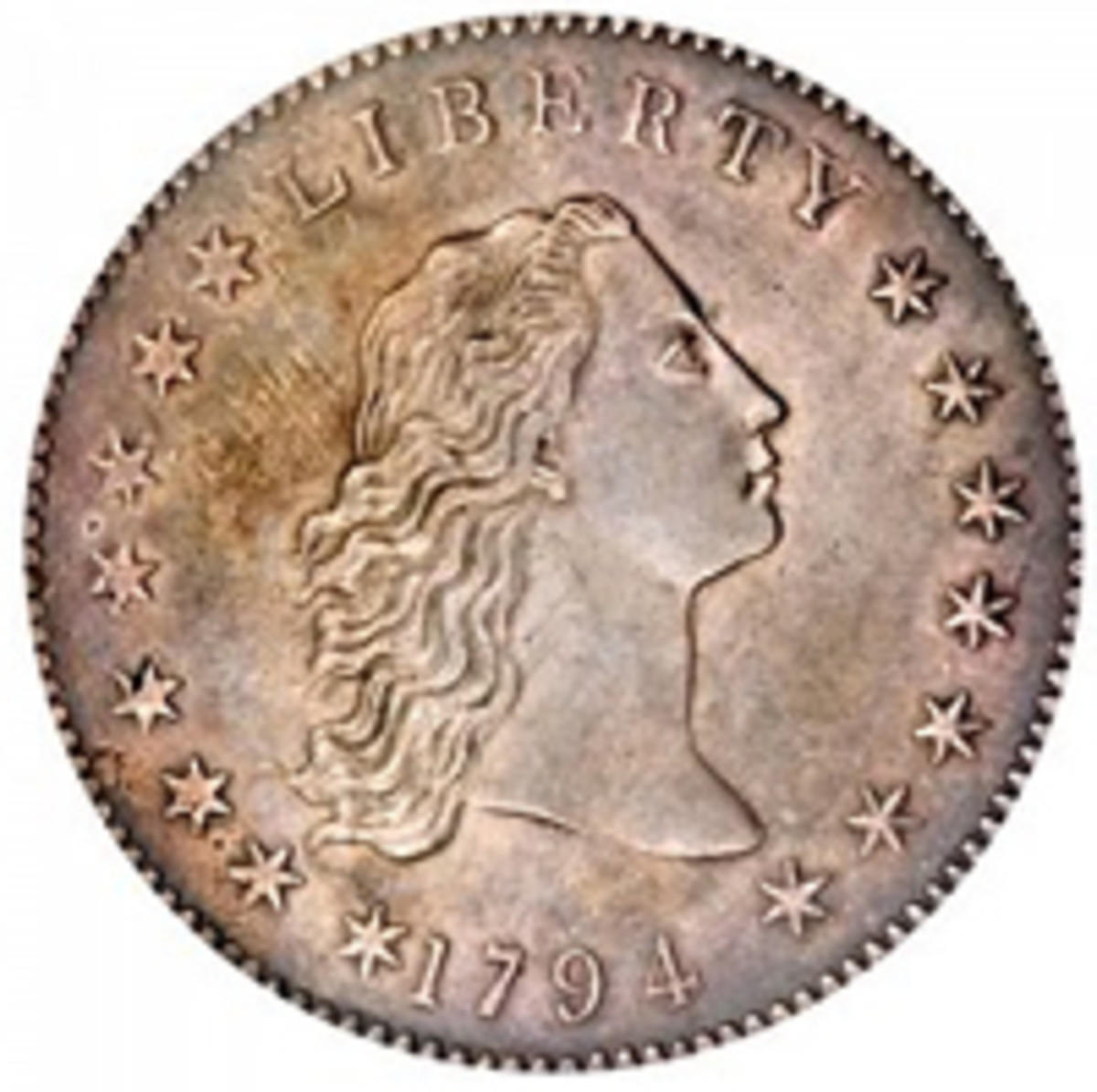 1794 dollar obverse (Image courtesy www.usacoinbook.com)