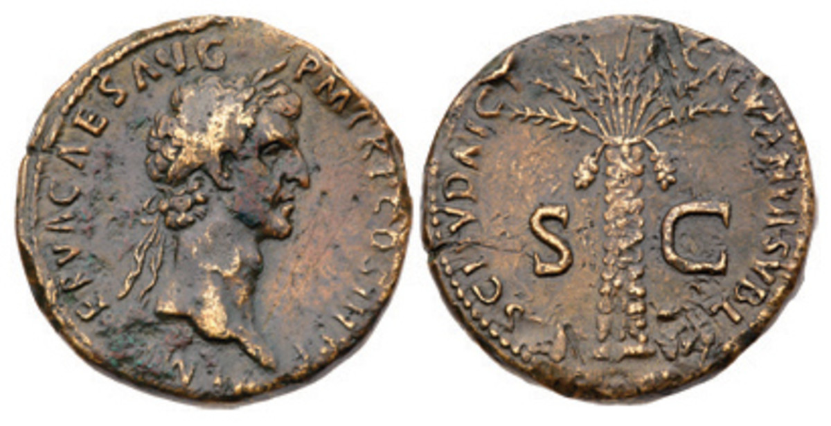 Nerva's enigmatic inscription FISCI JUDAICI CALUMNIA SUBLATA on this sestertius offered in the Palm Desert Collection has inspired numerous articles attempting to explain its meaning.