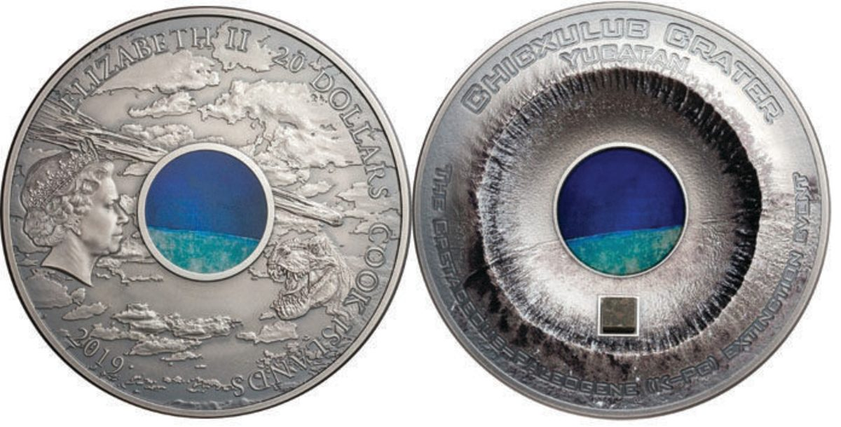 The new 2019 Chicxulub Crater Coin by NumisCollect. Images courtesy of NumisCollect
