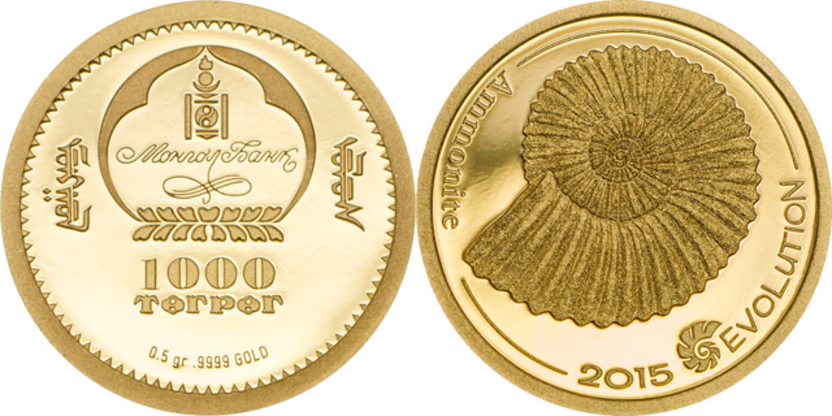 The gold version comes in a proof finish. Image courtesy of Coin Invest Trust.