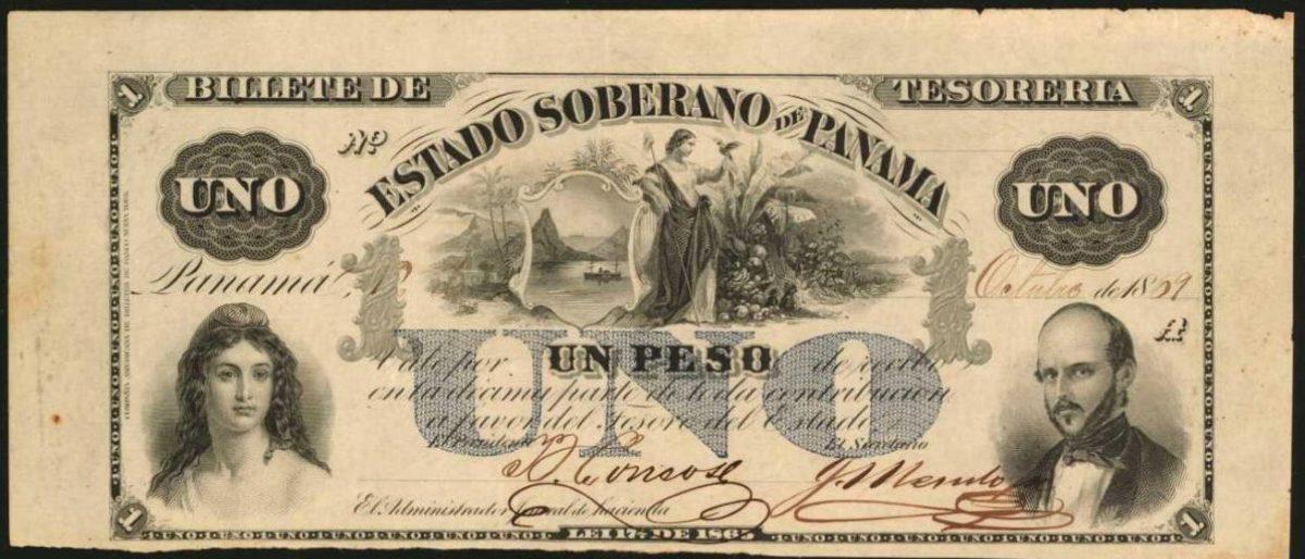 Colombia 1866-1872 Estado Soberano de Panama 1 peso