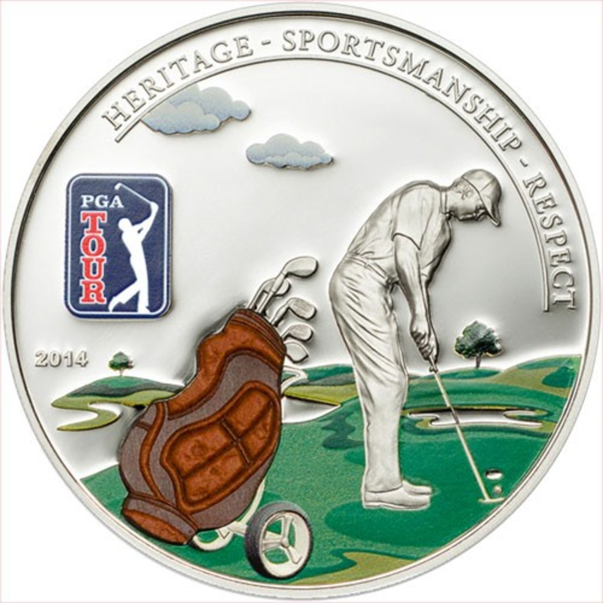 Enjoy a game of golf? Buy this coin commemorating the PGA Tour and the wonderful game of golf.