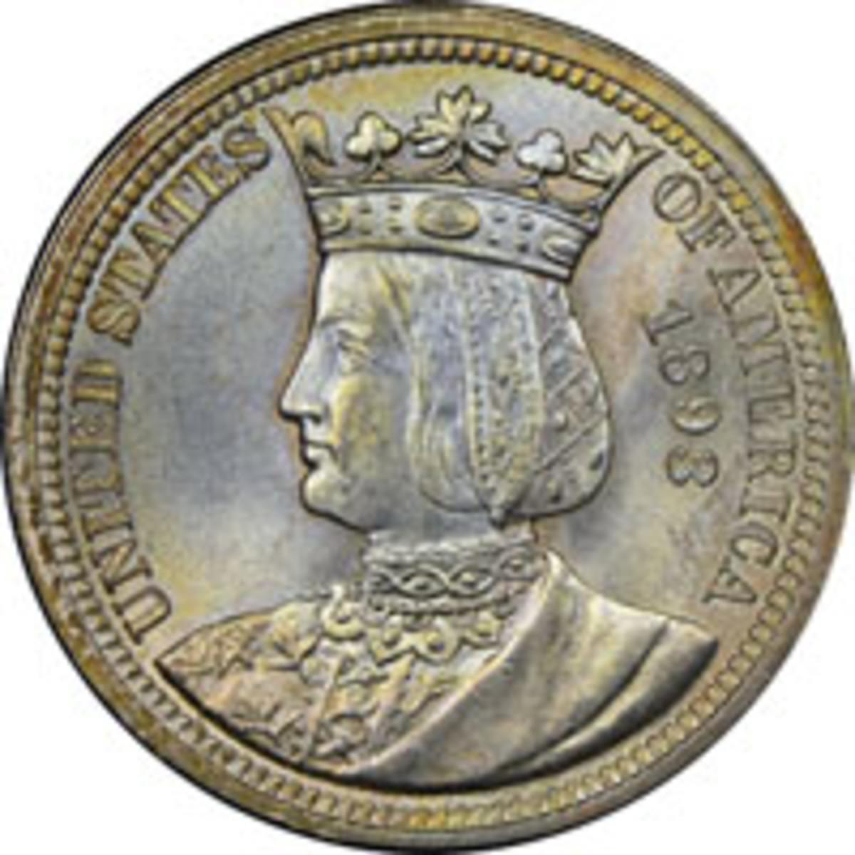 1893 Isabella commemorative quarter (Image courtesy www.ngccoin.com)