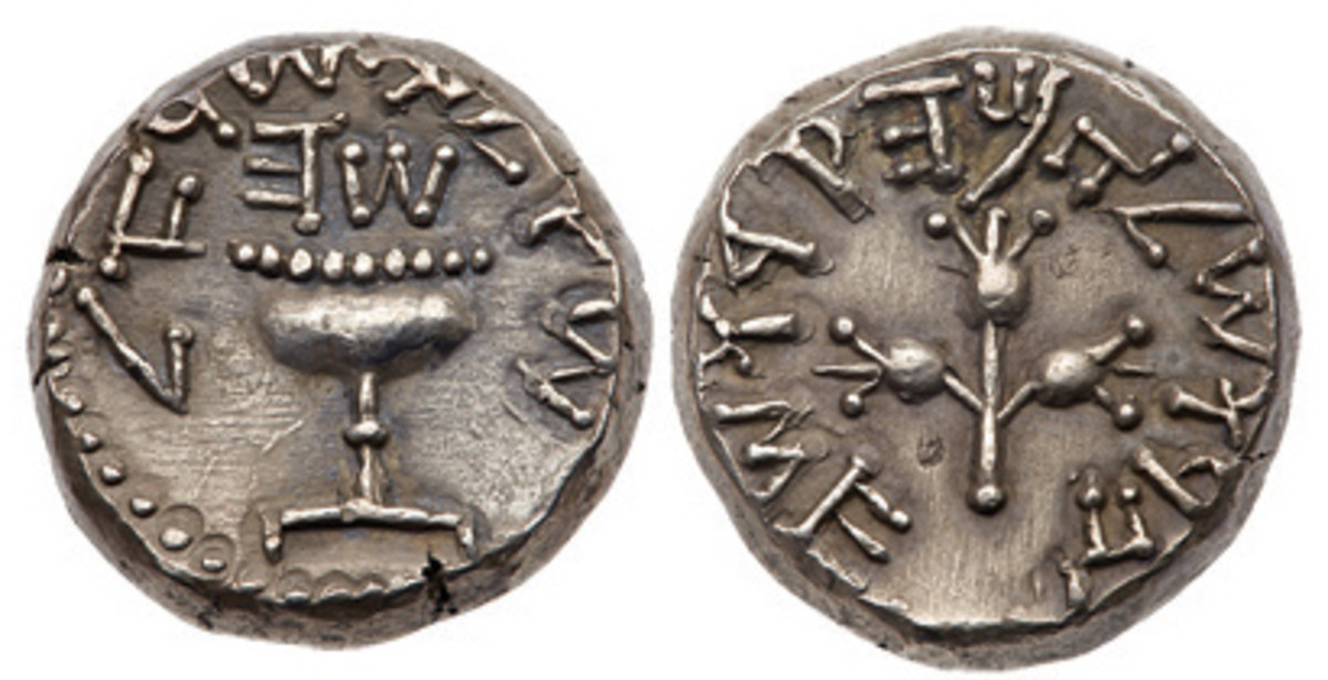 A Year 5 shekel in the Goldberg sale sold for $90,000 in 2012.