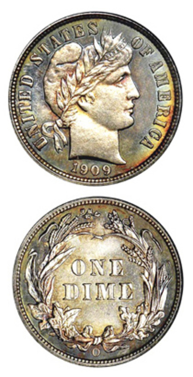 The last of the dimes struck at the New Orleans Mint came in 1909.