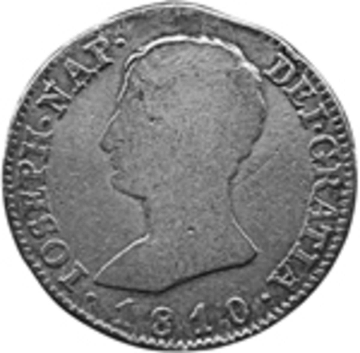 Mostly though, the Fernandistas issued regular coins like this ordinary 2 reales of Madrid dated 1814. (Actual size, 26mm)