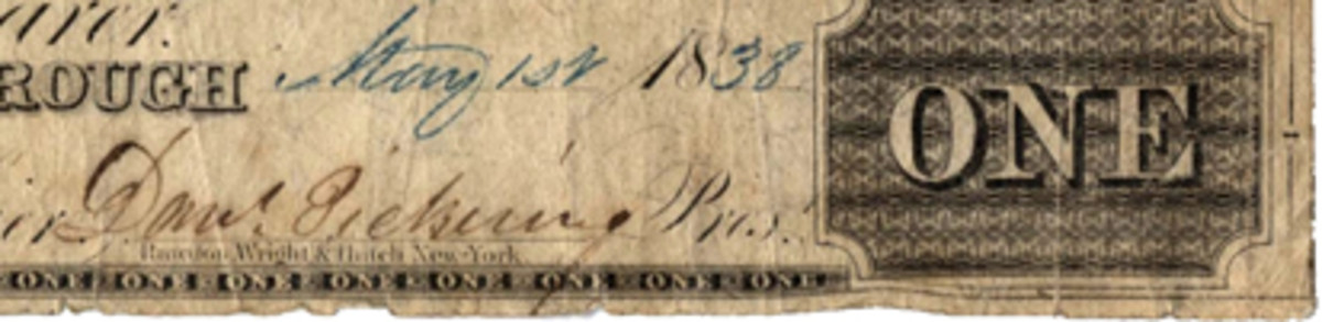 Detail showing Pickering's signature.