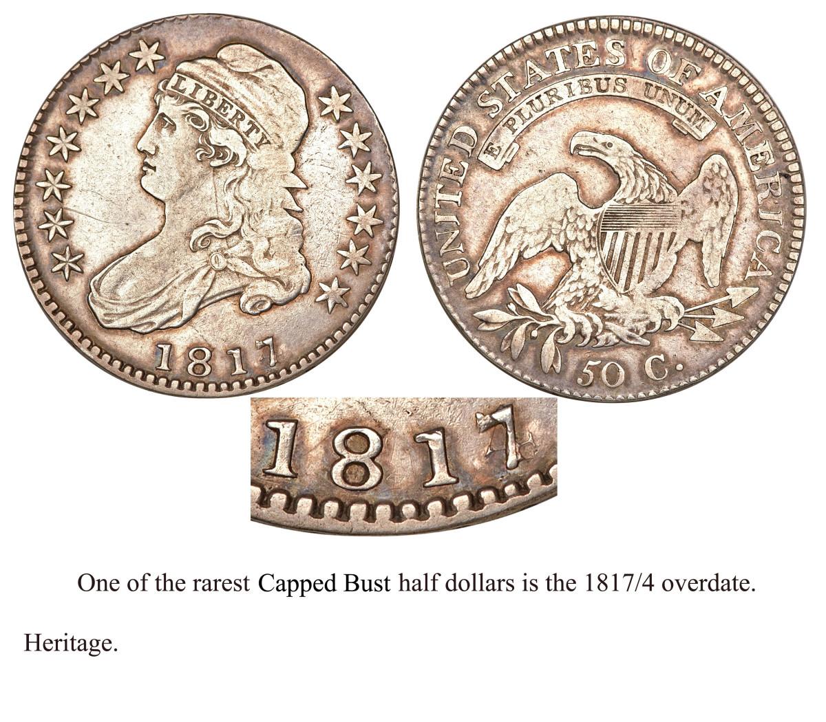 1817 Overdate Half Dollar