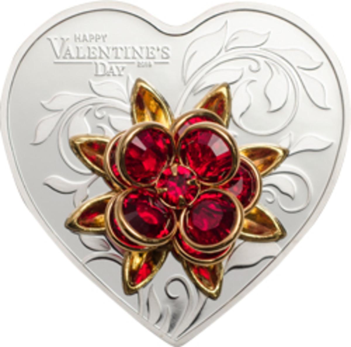 A red rose of SWAROVSKI® crystals celebrates Valentine's Day.
