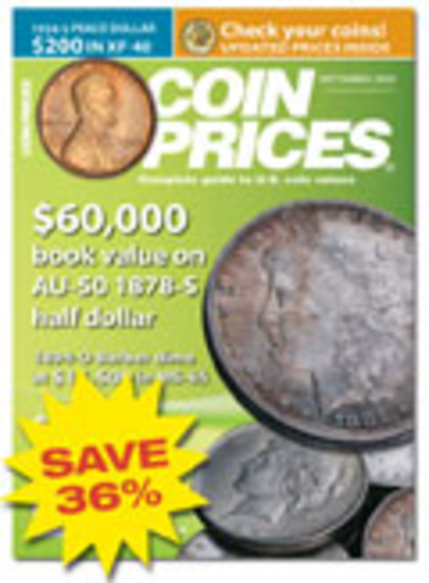 Coin Prices Magazine One Year Subscription