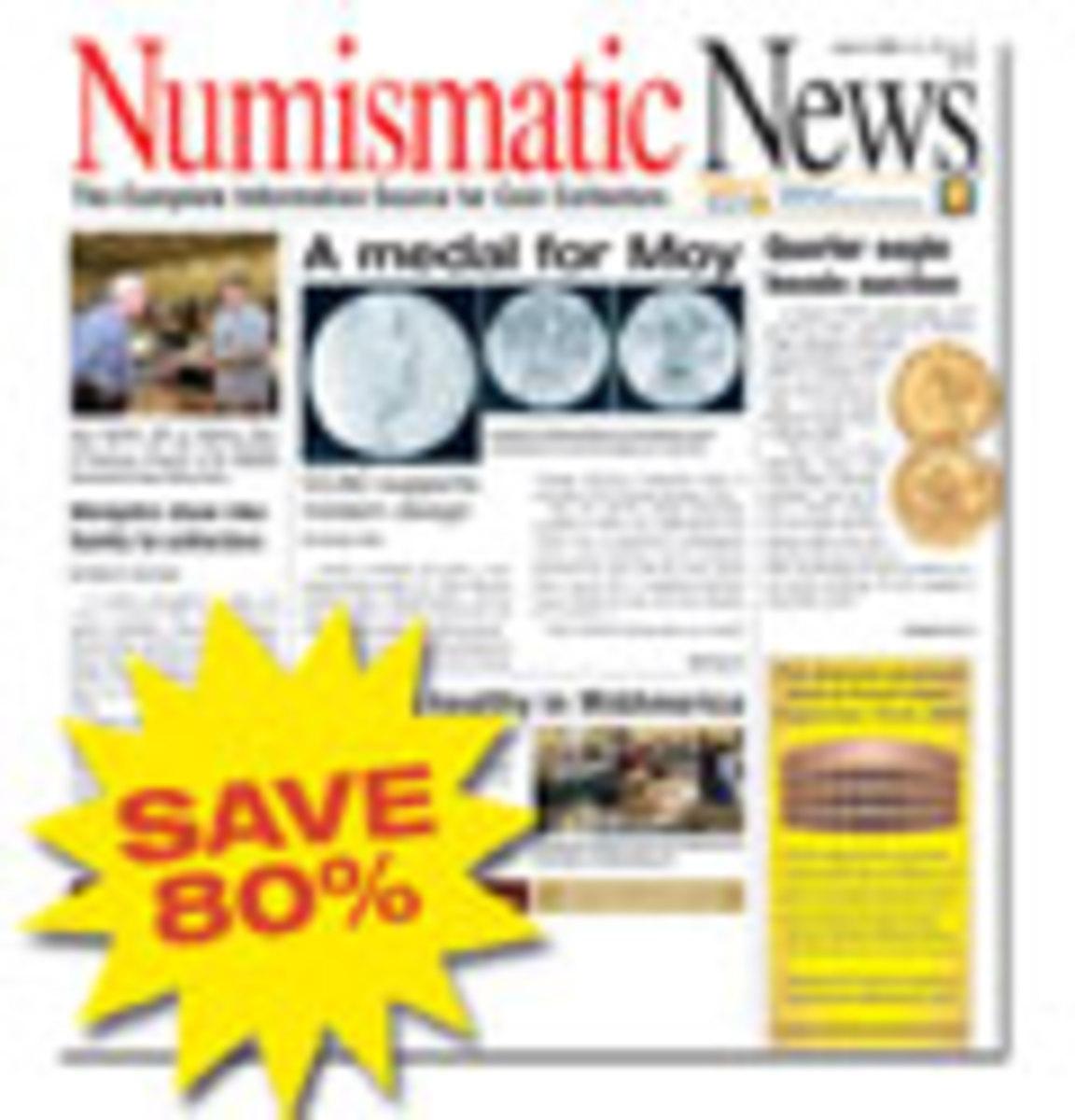 Numismatic News Magazine One Year Subscription - U.S.