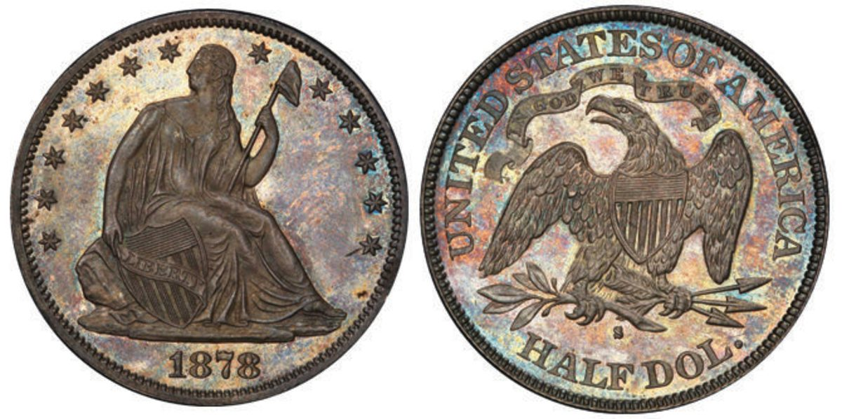Another record-setter: key date 1878-S half dollar in finest known condition. It brought $288,000.