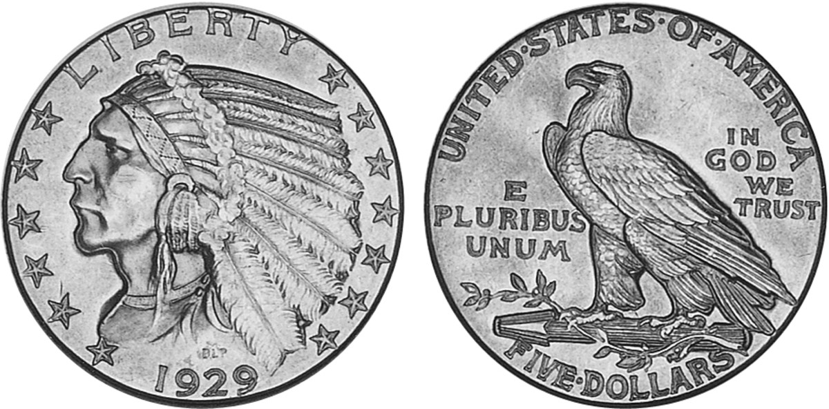 Many 1929 half eagles were melted down, though uncirculated examples were saved in numbers.