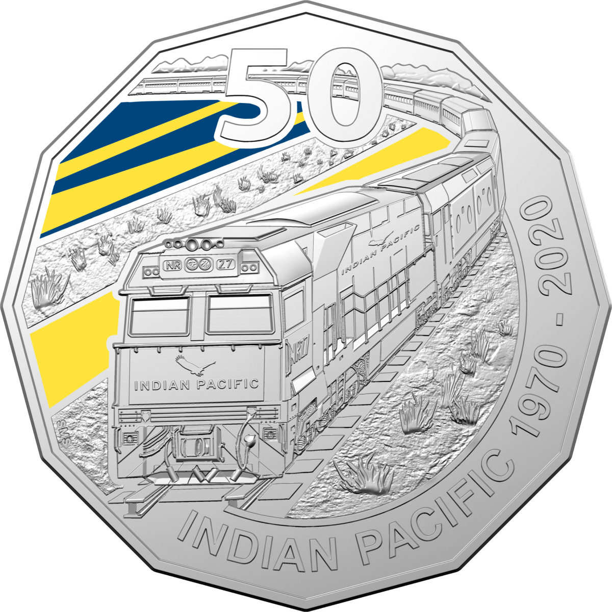 Indian Pacific - 2020 50c Coloured Uncirculated Coin
