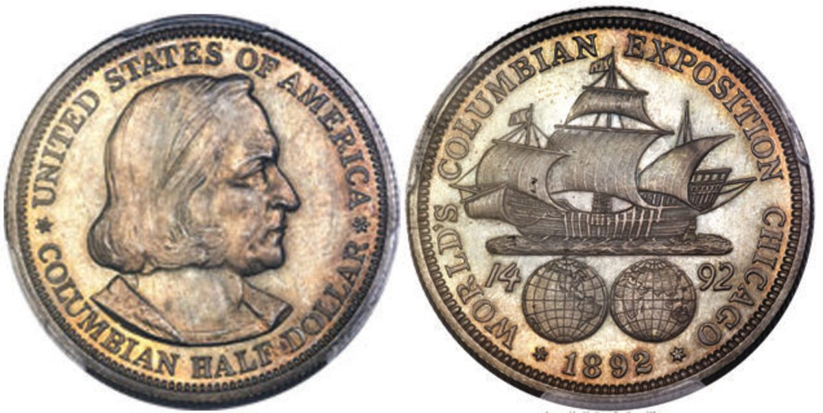 1892 Columbian half dollar. (All images courtesy Heritage Auctions)