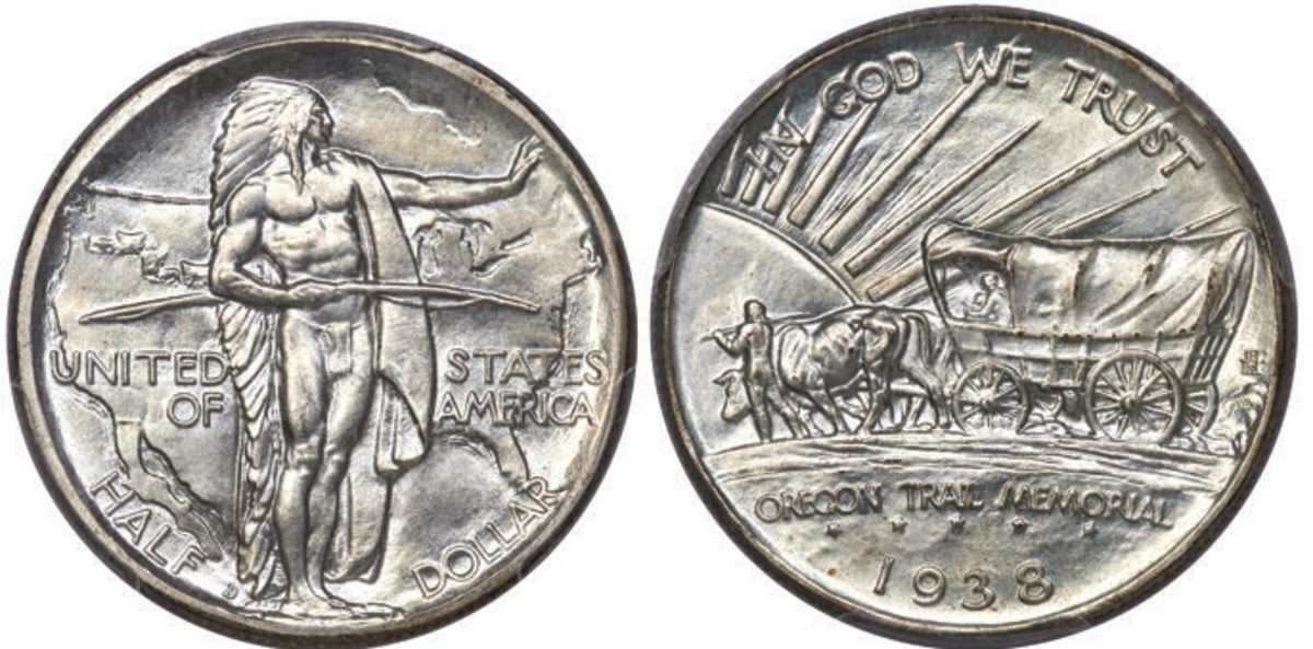 1938-D Oregon Trail Memorial half dollar.