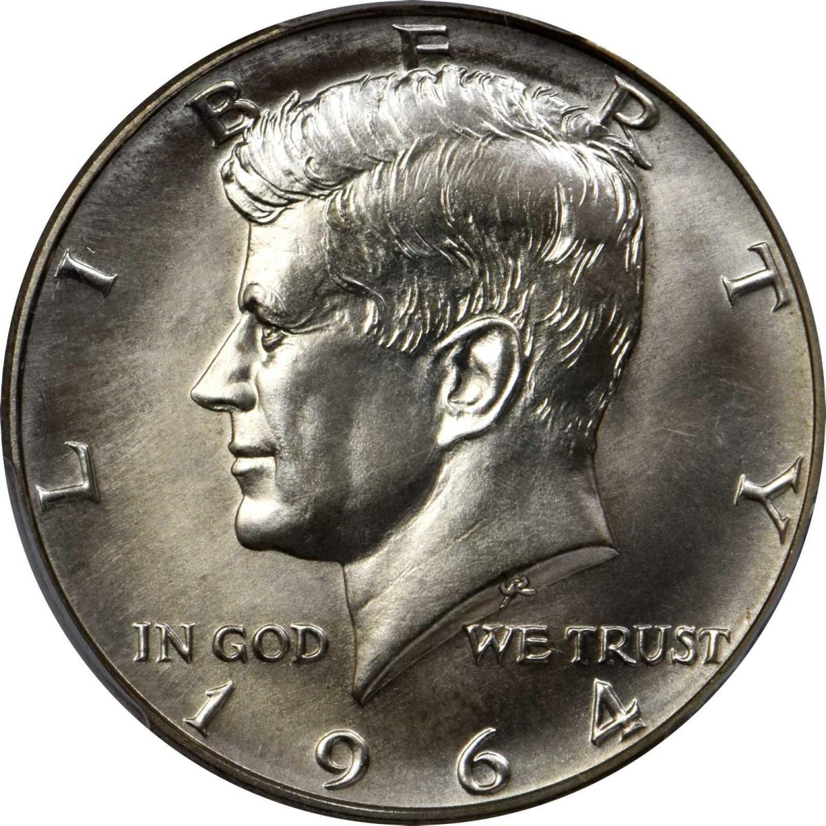 Shown here is the 1964 SMS Kennedy half dollar that sold for $156,000. (Image courtesy of Stack's Bowers)