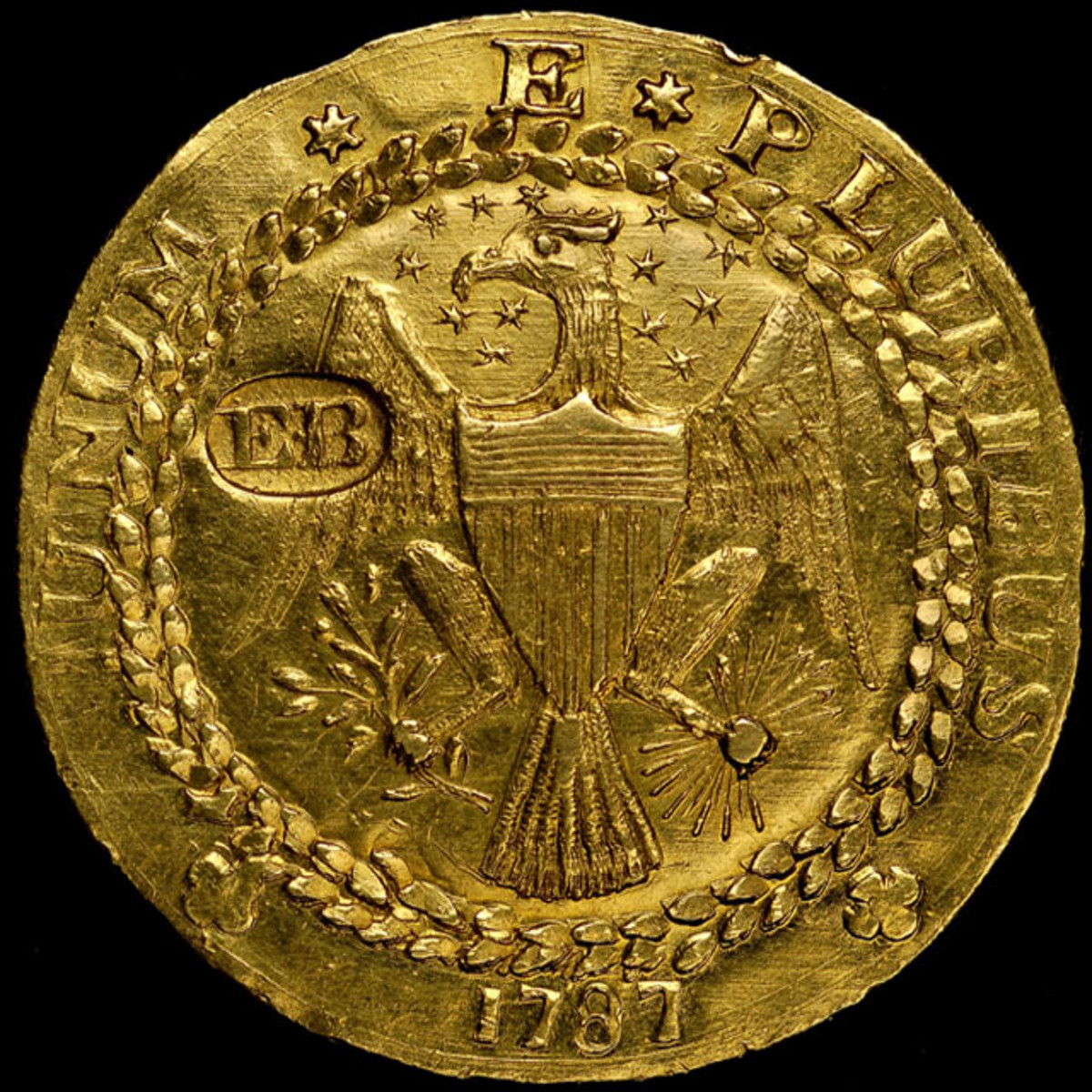 Obverse of the original 1787 Brasher Doubloon