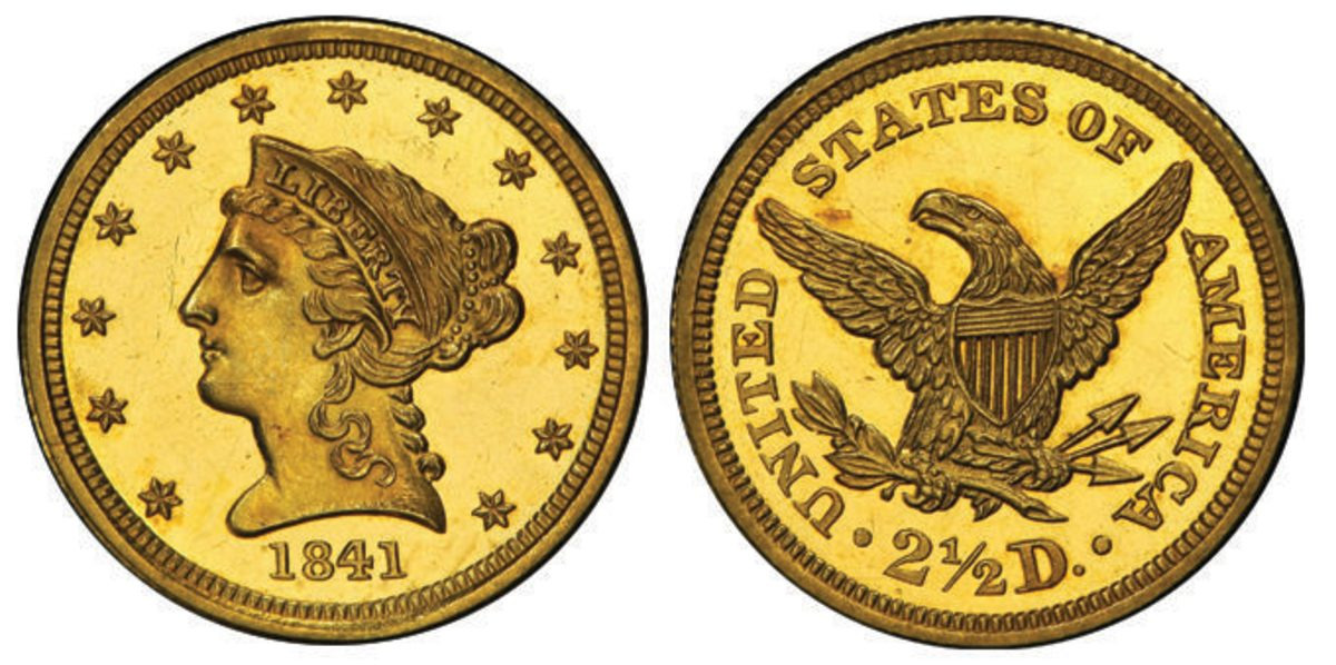"""A new world record was set for the """"Little Princess,"""" an 1841 proof quarter eagle, when it crossed the block at $408,000."""